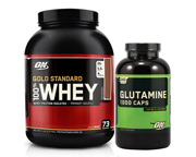 ON 100% WHEY PROTEIN GOLD STANDARD 5 LB + ON GLUTAMINA 1000 PACK